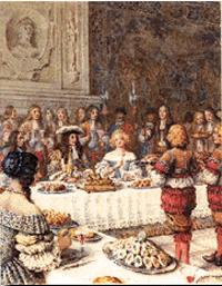 Doces na corte de Louis XIV - França Século XVII -